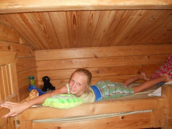 Martha's Vineyard Family Campground: bunk bed in 2 bedroom cabin