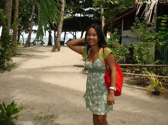 Cove Paradise Beach & Dive Resort: Me, and resort as my background :)