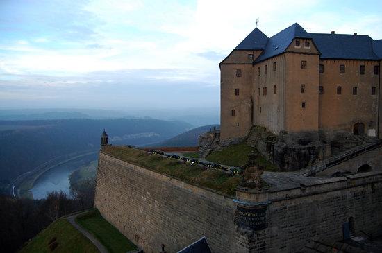 Festung Königstein: View of Festung