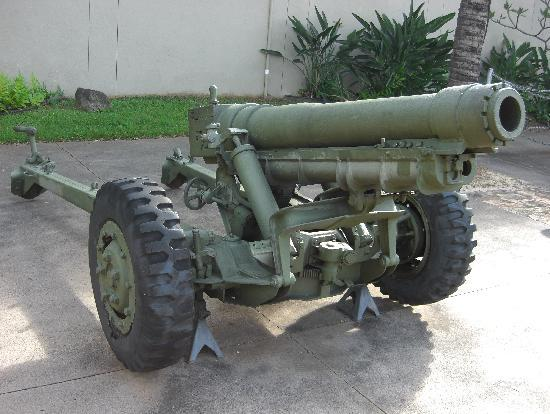 US Army Museum of Hawaii : アメリカ陸軍105mm榴弾砲M3