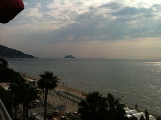 Grand Hotel Spiaggia: la vista mare dalla camera