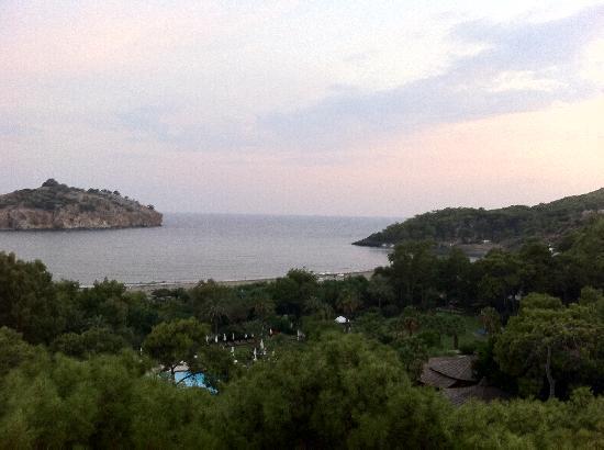 Ortaca, ตุรกี: Blick vom A la Carte-Restaurant zum Meer