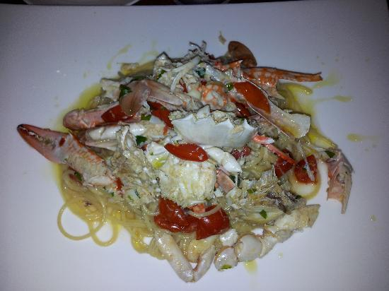 Casa Jip Guesthouse: spaghetti with blue crab