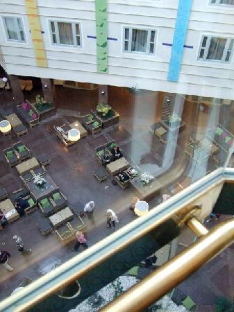 Elite Hotel Marina Plaza : Taken from the glass elevator