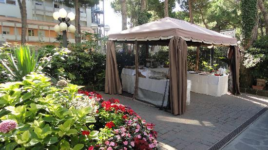 Hotel Cuba: colazione in giardino