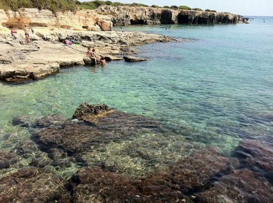 VOI Arenella resort: mare in piattaforma