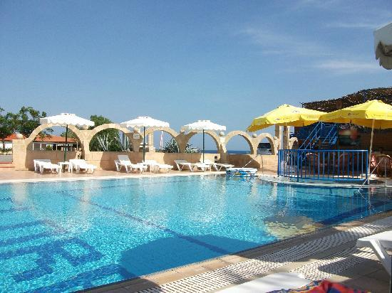 Flora Beach Hotel Studios: beautifully clean and peaceful, friendly staff at hand at the bar