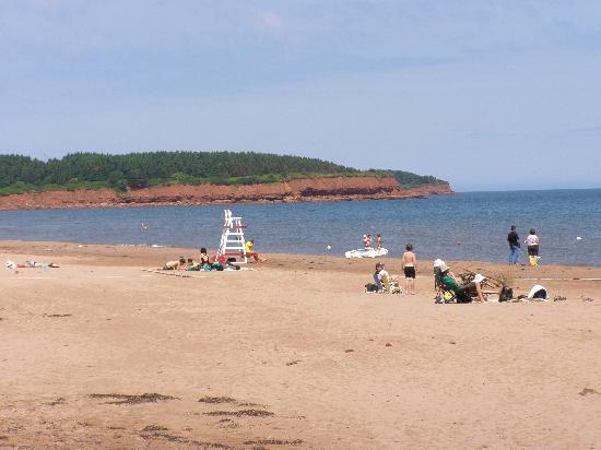 Holiday Inn Express Hotel & Suites Charlottetown : Red sand along the north shore park