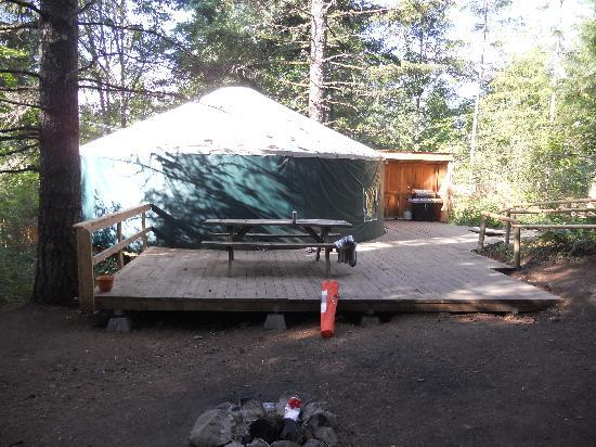 Camp Dakota: 10 person Yurt with large deck