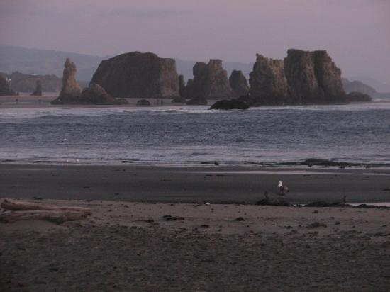 Sunset Oceanfront Lodging: Rock formations