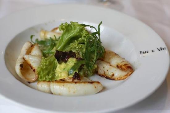 Pan e Vin: Gegrillte Calamari