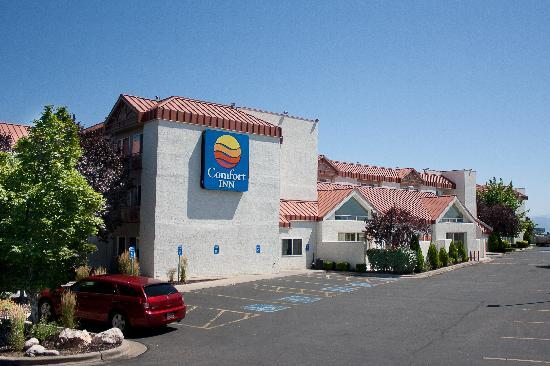 Comfort Inn: Indoor Pool & Outdoor Patio with Steel Gas Grill for Guest Use