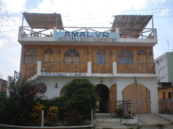 Amalur Hostal Restaurante: la entrada principal
