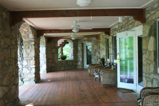 The Lodge on Lake Lure: Relax outside Room 11 and enjoy the view