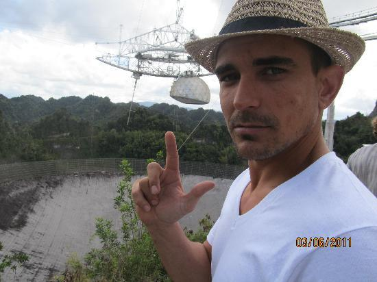Arecibo Observatory: My husband :)