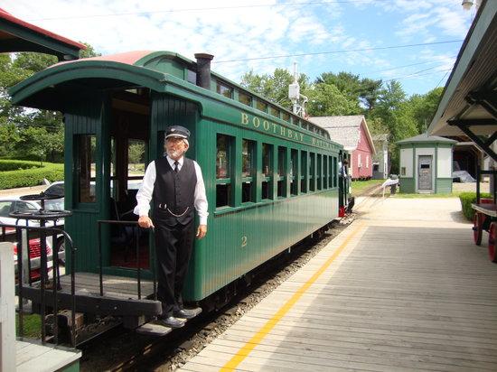 Boothbay Railway Village: The train is a narrow gauge steam train