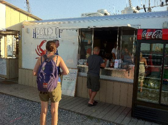 Hooked Up Seafood: Their trailer.
