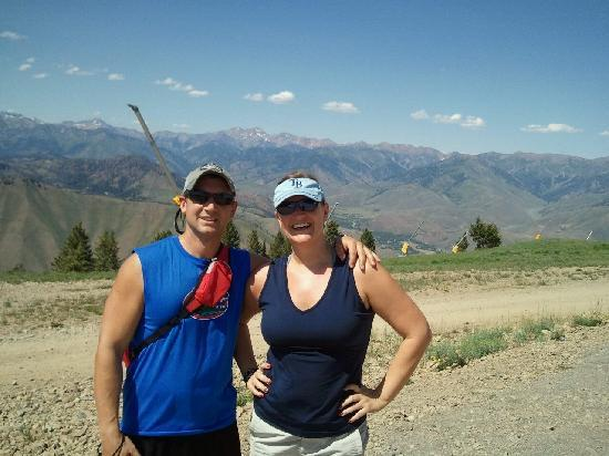 Bald Mountain : Here we are at the top of Baldy...I was pooped!