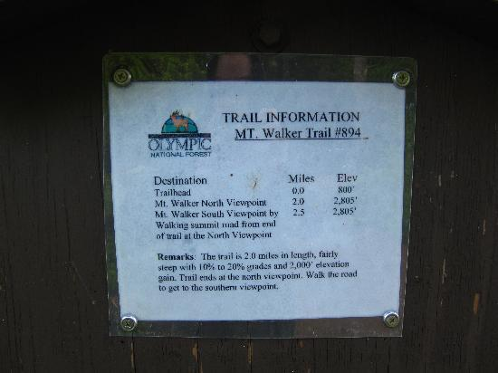 Mount Walker: Information about the trail