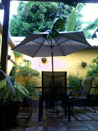 Iguana Hostel and Cafe : Patio