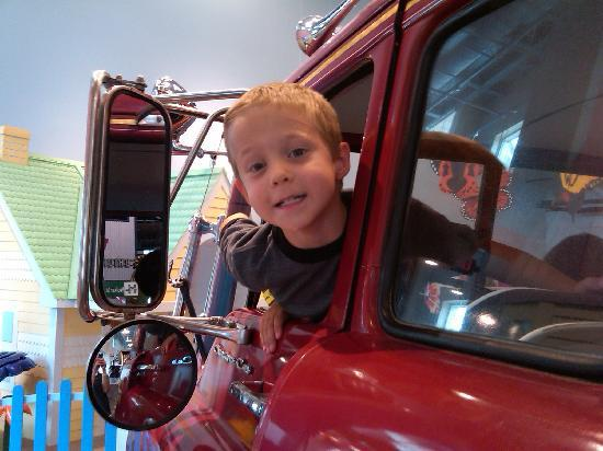 Discovery Place Kids-Huntersville : The fire truck is all great fun