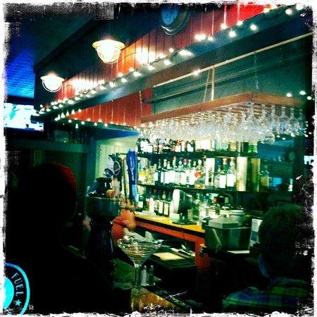 Cafe Drydock & Inn: a well stocked bar at Drydock