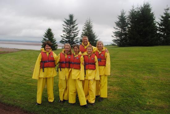Shubenacadie River Runners: Clean before we hit the rapids!