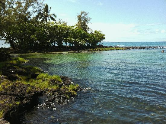 Keaukaha Beach Park: sandy bottom lagoon