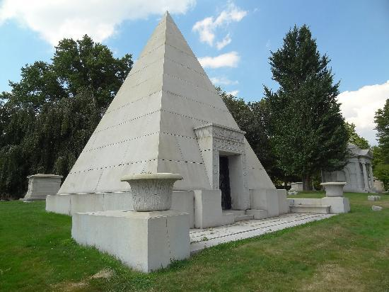 Brown Pyramid Mausoleum From 1899 Picture Of Homewood