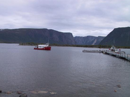 Western Brook Pond: one of the boats