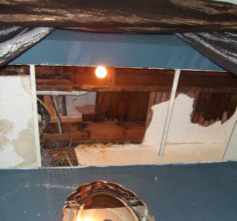 Ken's Place: ceiling hole