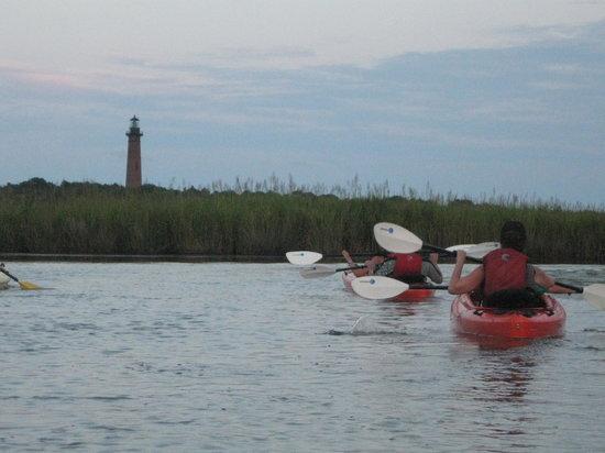 Coastal Explorations: Lighthouse in background
