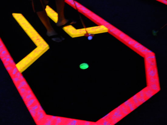 The Golf Beaches Black Light Mini-Golf: Glow in the DARK!