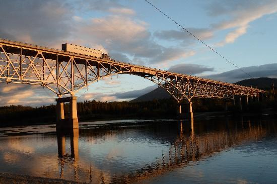Johnson's Crossing RV Campground and Motel: view of the bridge from underneath