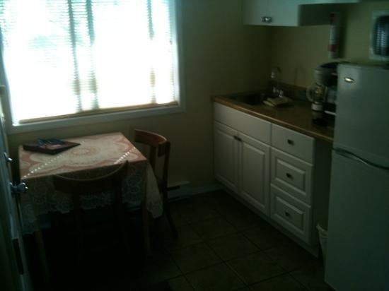 Johnny's Motel: nice kitchen with all amenities