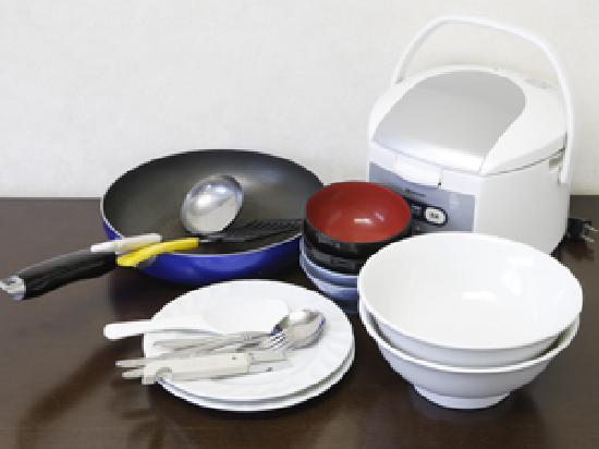 Flexstay Inn Kiyosumishirakawa: Rental Kitchenware