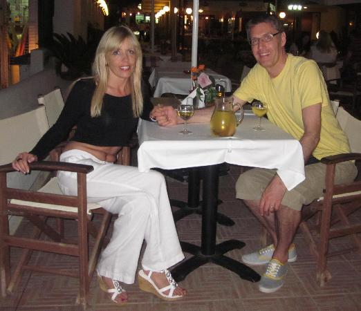 Us at a restaurant very close to the Hotel Villa Anna