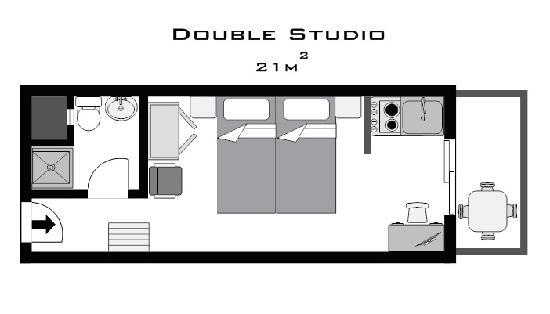 ‪فيلوكسينيا هوتل آند ستوديوز: Double Studio Plan‬