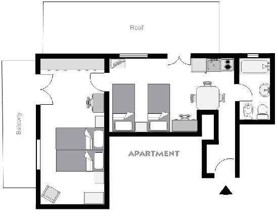 Philoxenia Hotel & Studios: Apartment's Plan