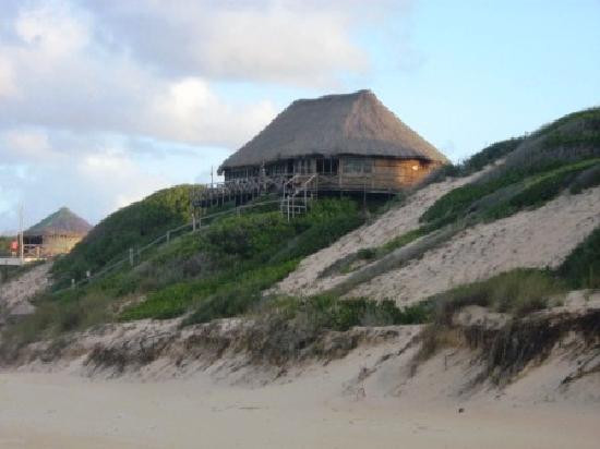 Bamboozi Beach Lodge: RESTAURANT VIEW