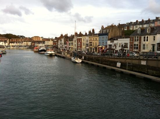 old port area of Weymouth adjacent to the Roundhouse Hotel