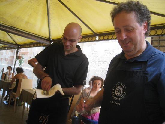 Ristorante Peccato di Vino : The friendly service starts