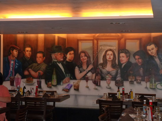 Cafe Royal: A painting on one side of the restaurant
