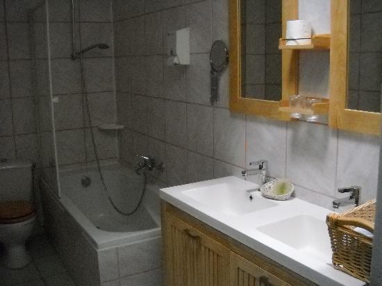 Auberge La Pomme de Pin : salle de bain chambre twin