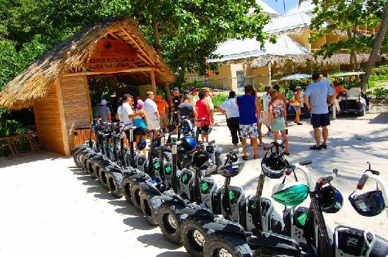 Puntacana Ecotours: The Segways at the entrance of the Indigenous Eyes Ecological Reserve