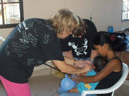 Camp Bay Lodge: Helping the nativeswith woung care/medications