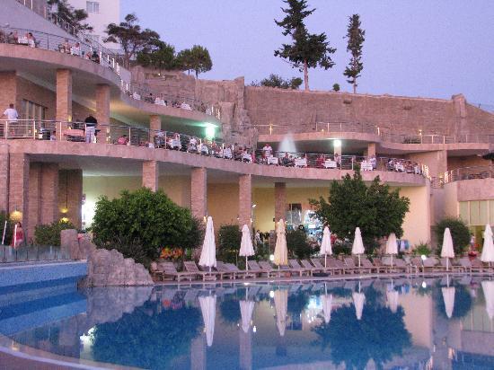 Horus Paradise Luxury Resort: View from outdoor pool 2 to main block
