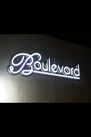 Boulevard Show Bar: The exterior sign!
