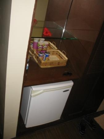Dos Palmas Island Resort & Spa: small fridge