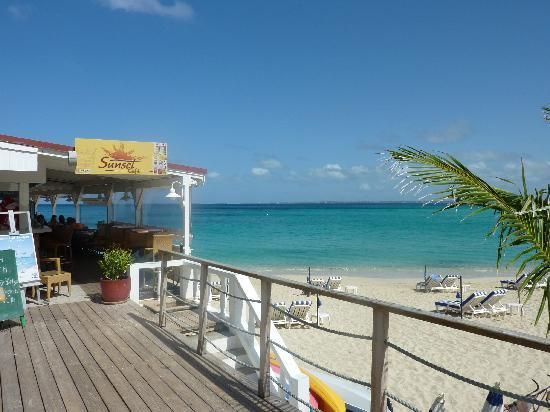 Grand Case Beach Club: sunset cafè